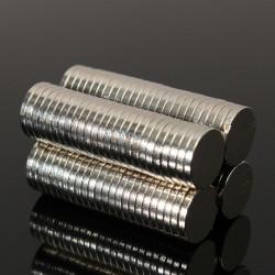 100st N50 Stark Cylinderskiv Magneter Jordartsmetaller Neodymium 10x1.5mm