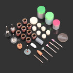 105pcs Rotary Tool Accessory kit For Grinder 1/8 Inch Rod Industrial & Scientific