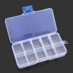 10 Grid Multifunktionel Opbevaring Box Justerbar Værktøjskassen Parts Box