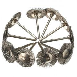 10er 25mm Stahldraht Rad Pinsel Für Die Grinder Drehwerkzeug