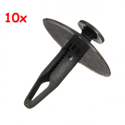 10Pcs 6mm Hole Plastic Rivet Interior Trim Panel Retainer Clips