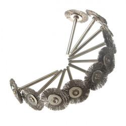 10stk Rustfri Wire Wheels Børster til Die Grinder Rotary Værktøj