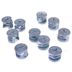 10pcs 15mm Eccentric Wheel Thickening Furniture Hardware Connector