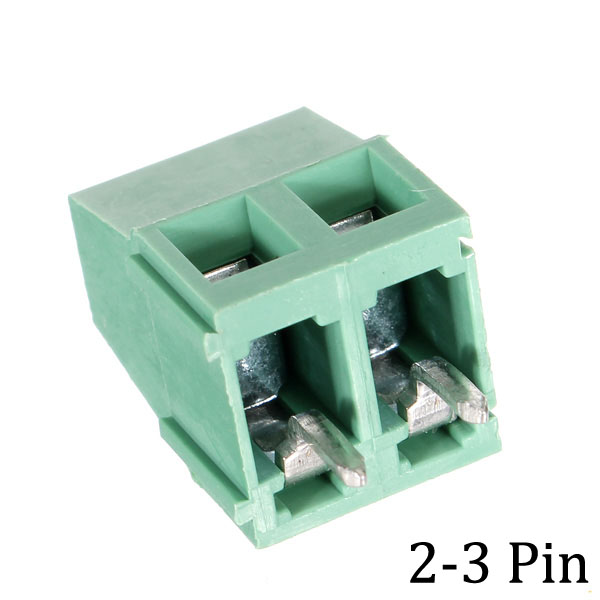 10stk 5.0mm 2/3 Pin PCB Screw Terminal Block Stik Green Industrial & Videnskab