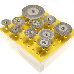 10st Diamantkapskivor Kapskivan Set för Dremel-verktyg