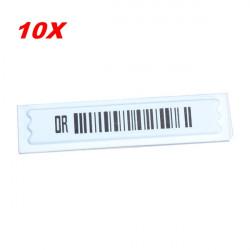 10stk EAS System Security DR Label EAS Ultra Strip 58KHz AM White