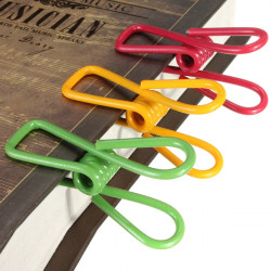 10pcs Metal Clothes Peg Laundry Washing Line Hanger Paper Photos Clip