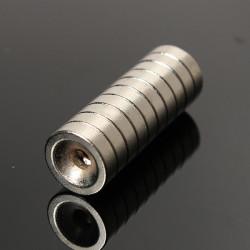 10st N35 Stark Disc Magnet 10x3mm Jordartsmetaller Neodym 3mm Hole
