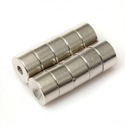 10st N50 Disc Jordartsmetaller Neodymiummagneter 7mmx4mm Försänkt Hole