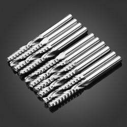 10stk Single Flute CNC Fræsning Cutters Carving Machine Værktøj Dele