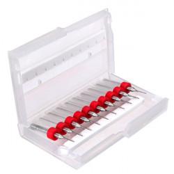 10stk Hartmetall CNC PCB Bohrer 0.6mm Tipp