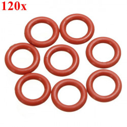 120pcs Keycap Red Silicone O Ring Switch Dampener For Cherry MX Keyboard