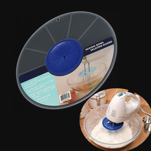 12 Inch Mixing Bowl Splatter Guard Egg Bowl Plastic Cover Baking Tool Industrial & Scientific