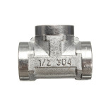 1/2 Inch Stainless Steel 304 Tee 3 Way Threaded Pipe Fittings Industrial & Scientific