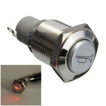 12V 16mm Self Lock Switch Metal WaterProof Push Button LED Lighted Switch Industrial & Scientific