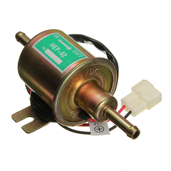 12V Electric Fuel Pump Diesel Petrol HEP-02A Metal Electric Fuel Pump Industrial & Scientific