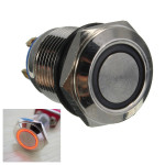 12mm 2A/36VAC Metal  Push Button Switch WaterProof Flat LED Lighted Switch Industrial & Scientific