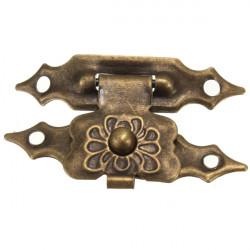 12stk Antique dekorativen Schmuck Geschenk Holzkiste Haspe Latch Verschluss Mit Schraube