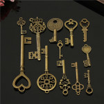 12pcs Vintage key Charms Accessories Jewelry Antique Charms/Pendants Industrial & Scientific
