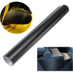 "12x60"" 4D Carbon Fiber Sort Vinyl Vehicle Indpakning Sticker Film"
