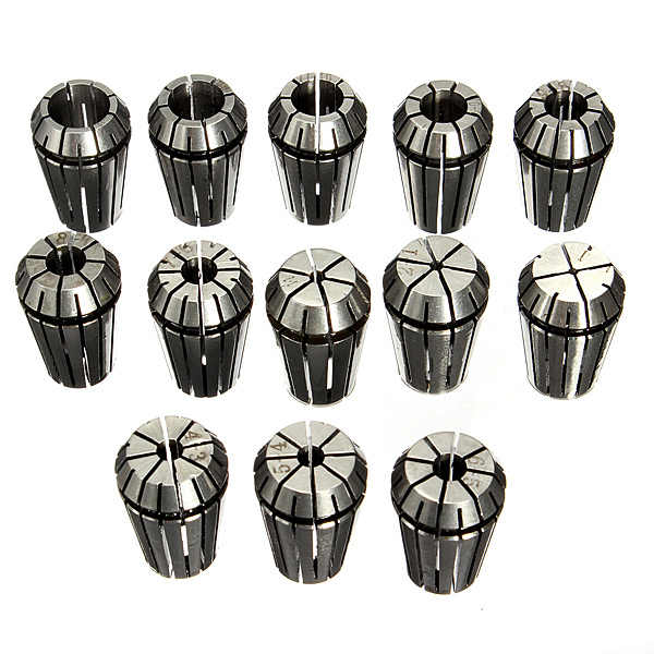 13pcs 1-13mm ER20 CNC Carving Machine Milling Chuck Collets Industrial & Scientific