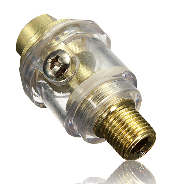 1/4 tommer BSP Mini In-Line Oiler til pneumatisk værktøj & Air Compressor Pipe Industrial & Videnskab