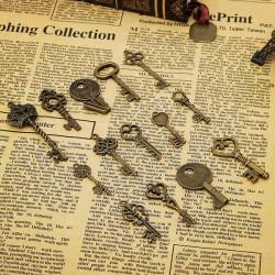 14stk Retro Vintage Old Style Key Vedhæng DIY Accessaries