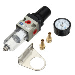 "1/4"" NPT Air Compressor Filter Pressure Regulator Med Drain Trap Industrial & Videnskab"