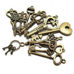 15st Blandade Kungliga Antique Key Hängen Old Style DIY Access