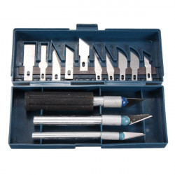 16stk Hobby Craft Knife Skalpel 13 Skær + 3 Knive