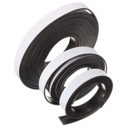 1M / 2M / 5Mx12x1.5mm Self Adhesive Fleksibel Magnetstribe Magnet Tape