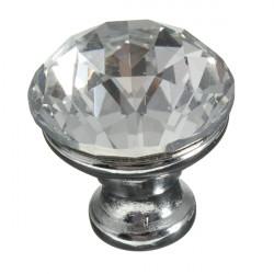 1pcs Crystal Round Furniture Drawer Pull Dresser Handle Cabinet Knob