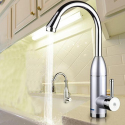 220V 3000W Tankless Electric Faucet Kitchen Water Heater Mixer Tap