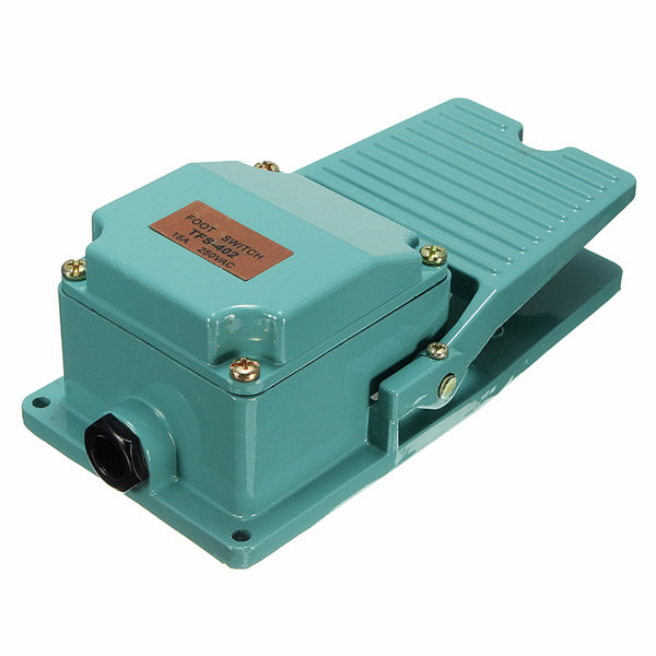 250V 15A Antislip Metal Momentan Industrial Foot Pedal Switch Industrial & Videnskab