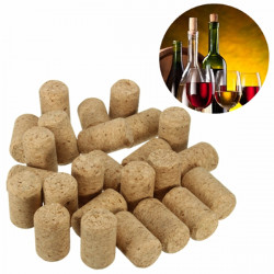 25pcs Unused Straight Round Wine Cork Stopper Plug Wine Bottle Cap