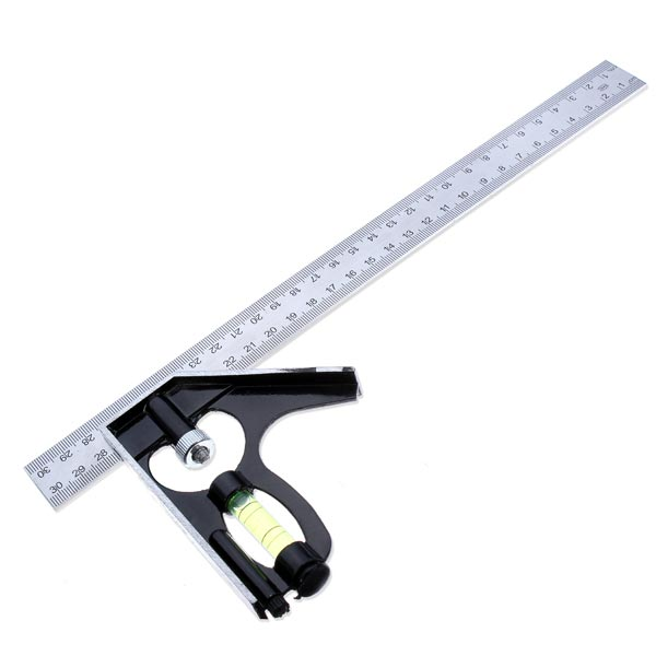 300mm Horizontal Angle Square Stainless 90 Dgree Woodworking Ruler Industrial & Scientific