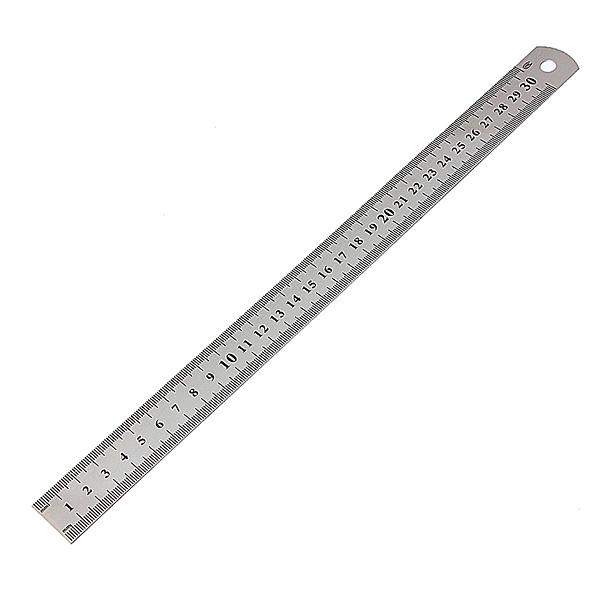 30cm 12 Zoll Edelstahl Doppelseitige Metall Lineal Werkzeug Mess Industriell & Wissenschaftlich