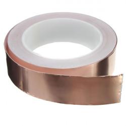 30mmX20m Koppar Folie Tejp Single Ledande EMI Skärmading Adhesive