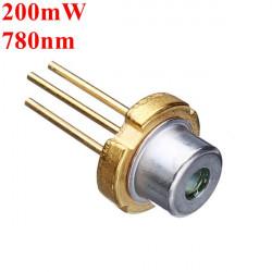 3.3mm 780nm 200mW IR IR Laser Diod Laser Modul Generator
