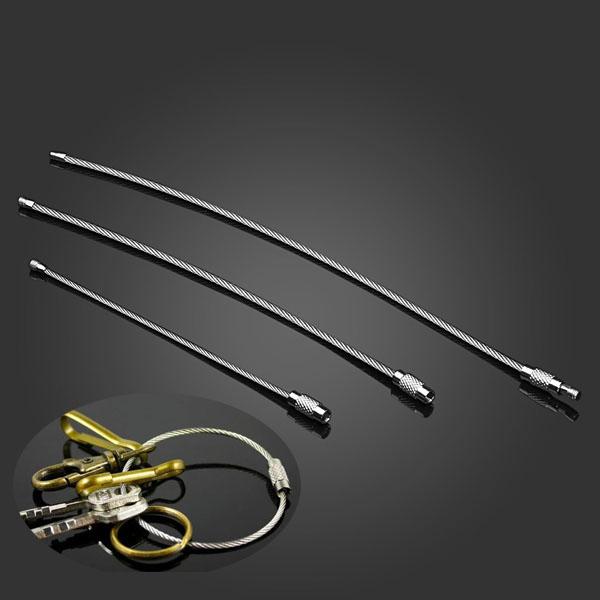3 Størrelse Rustfrit Stål Wire Ring Nøglering Ring QuickDraw EDC Værktøj Industrial & Videnskab