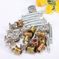 3in1 M6 Furniture Screw Assembled Pieces Cabinet Connectors Hammer Nut