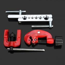3stk Bördelgeräte Kit Rohrschneider Schrumpfvorrichtung Kältetechnik Werkzeuge