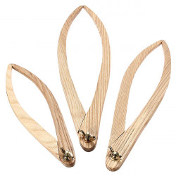 3pcs Wooden Calipers Pottery Ceramic Measuring Tool