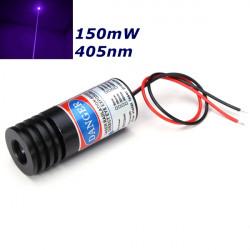 405nm 150mW Fokussierbare Violet Punkt Laser Modul Lasergenerator Diode