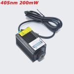 405nm 200mW Violet Dot Laser Modul med Holder til DIY Laser Cutter Industrial & Videnskab