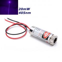 405nm 20 MW Fokuserbar Violet Dot Laser Modul Laser Generator Diode