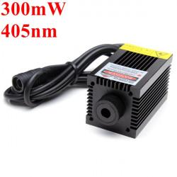 405nm 300 mW Violet Dot Laser Modul med Holder til DIY Lasergravering
