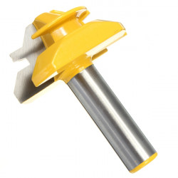 "45 Degree Medium Lock Gering Lim Joint Router Bit 1/2"" Shank"