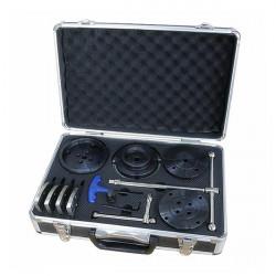 4.5 inch 45# Steel Bevel Gear Lathe Chuck Tool Box Set