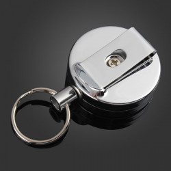 4cm Full Metal Tool Belt Money Retractable Key Ring Pull Chain Clip